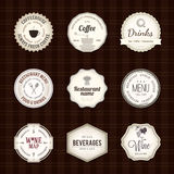 Label set. For restaurant and cafe Royalty Free Stock Photos