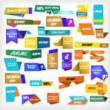 Label set. Colorful sale labels set Royalty Free Stock Photography