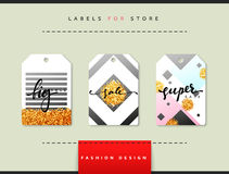 Label set for clothing sales. Abstract modern design Royalty Free Stock Images