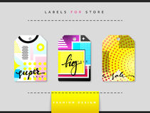 Label set for clothing sales. Abstract modern design Royalty Free Stock Photo