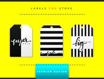 Label set for clothing sales. Abstract modern design Stock Photography