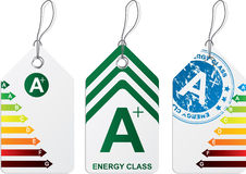 Label set with energy class charts Stock Photos