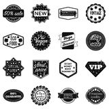 Label set icons in black style. Big collection label vector symbol stock illustration Royalty Free Stock Photos
