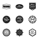 Label set icons in black style. Big collection of label vector symbol stock illustration Stock Image