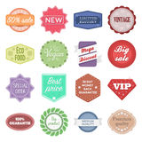 Label set icons in cartoon style. Big collection of label vector illustration symbol. Stock Images