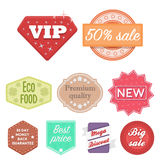 Label set icons in cartoon style. Big collection of label vector symbol stock illustration Stock Photos