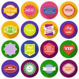 Label set icons in flat style. Big collection label vector symbol stock illustration Stock Photos