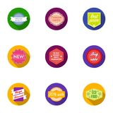Label set icons in flat style. Big collection of label vector symbol stock illustration Stock Photography