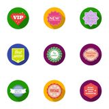 Label set icons in flat style. Big collection of label vector symbol stock illustration Stock Photos