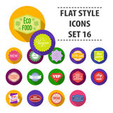 Label set icons in flat style. Big collection label vector symbol stock illustration Royalty Free Stock Images