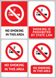 Label set No smoking Royalty Free Stock Image