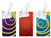 Label set with paper clip Royalty Free Stock Images