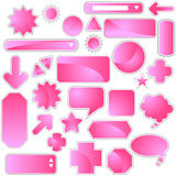 Label Set - Pink Royalty Free Stock Photos