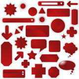 Label Set - Red Stock Image