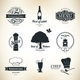 Label set for restaurant. And cafe Stock Photo