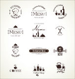Label set for restaurant menu design Stock Images