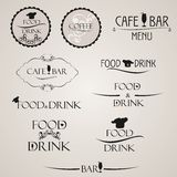 Label set for restaurant menu design. Label set for cafe. Food and drink label. Stock Photo