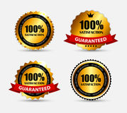Label Set 100 % Satisfaction. Vector Illustration. EPS10 Stock Photos