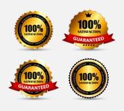Label Set 100 % Satisfaction. Vector Illustration Stock Photos