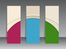 Label set seamless patterns Royalty Free Stock Image