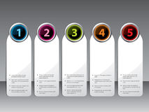 Label set with shiny color buttons Royalty Free Stock Images