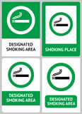 Label set Smoking place Royalty Free Stock Images