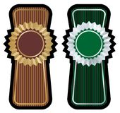 Label set vector. Brown and green label set Stock Photos