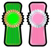 Label set vector. Green and pink label set Stock Photography