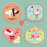 Label set with wedding elements.Retro Stock Photography