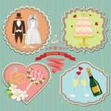 Label set wedding elements.Vintage Stock Images