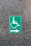 Label sign of cripple. On marble wall Royalty Free Stock Photos