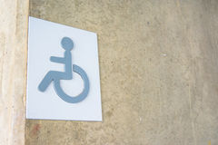 Label sign of cripple Royalty Free Stock Photo