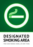 Label smoking place sticker Stock Photos