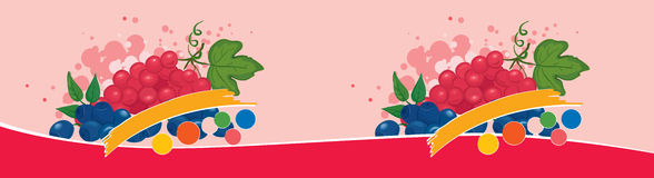 Label for a soft drink. Vector illustration - the label for a soft drink with berries vector illustration