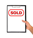 Label sold Stock Photography