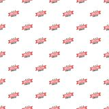 Label special price pattern, cartoon style Stock Image