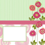 label on spring background Royalty Free Stock Image
