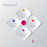Label square icon multicolor mockup infographic background Royalty Free Stock Photos