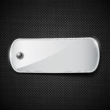 Label stainless steel background Stock Image