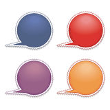 Label-stamp. Blue, red, orange and violet label-stamp Royalty Free Stock Photos