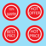 Label sticker best and hot price Stock Image