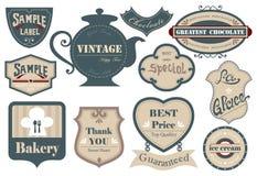 Label&sticker d'annata 01 Fotografie Stock