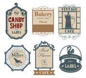 Label&sticker 02 del vintage stock de ilustración