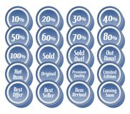 Label sticker set Royalty Free Stock Photos