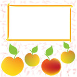 Label,sticker,tag design with apple and frame for price Stock Images