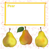 Label,sticker,tag design with pear and frame for price Stock Photo