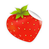 Label Strawberry. Label With Strawberry, Vector Background Stock Images