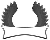 Label with stylized wings isolated Stock Photos