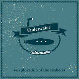Label submarine, exploration of the seabed Stock Photos