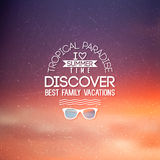Label for summer design. Royalty Free Stock Photo